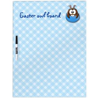 Easter owl - blue Dry-Erase board