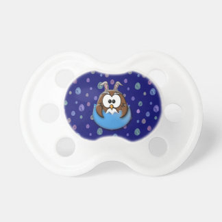Easter owl - blue pacifier