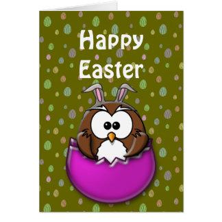 Easter owl card