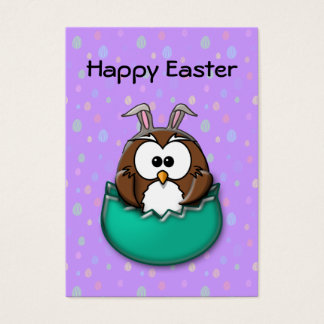Easter owl - green business card