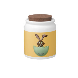 Easter owl - green candy jars