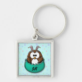 Easter owl - green keychain