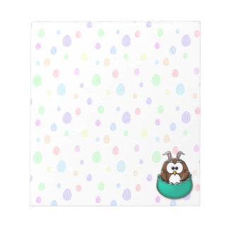 Easter owl - green notepad