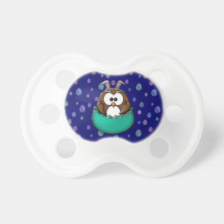 Easter owl - green pacifier