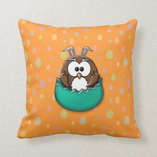 Easter owl - green pillows