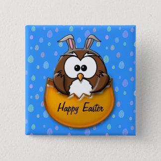 Easter owl - orange button