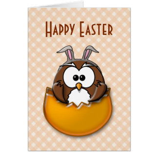 Easter owl - orange card