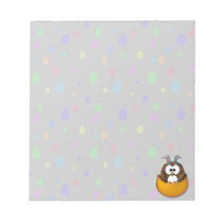 Easter owl - orange notepad