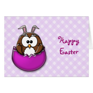 Easter owl - pink card