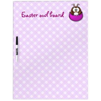 Easter owl - pink dry erase board