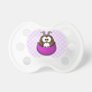 Easter owl - pink pacifier