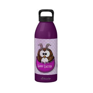 Easter owl - pink drinking bottle