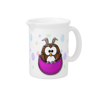 Easter owl drink pitchers