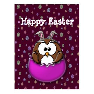 Easter owl postcard
