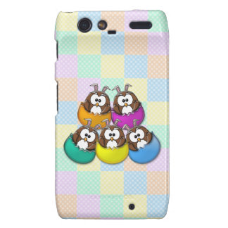 Easter owl - rainbow droid RAZR cover