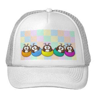 Easter owl - rainbow trucker hat