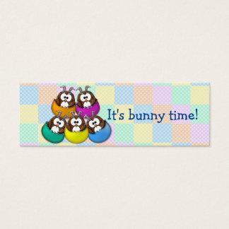 Easter owl - rainbow mini business card
