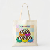 Easter owl - rainbow tote bag