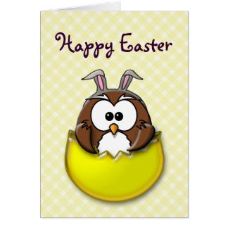 Easter owl - yellow card