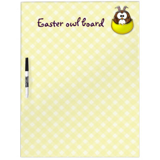 Easter owl - yellow dry erase board