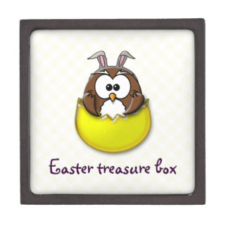 Easter owl - yellow gift box