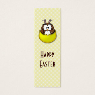 Easter owl - yellow mini business card