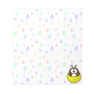 Easter owl - yellow notepad
