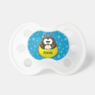 Easter owl - yellow pacifier
