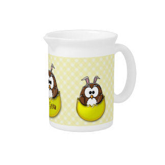 Easter owl - yellow pitchers