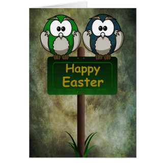 Easter Owls Card