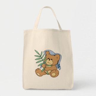 easter palm sunday teddy bear design tote bag