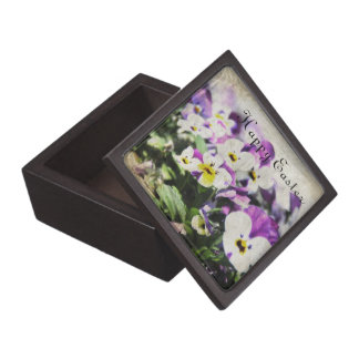 Easter Pansies Jewelry Box