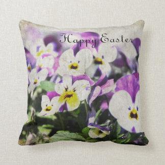 Easter Pansies Throw Pillow