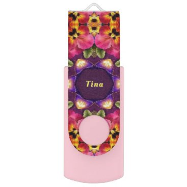Wedding Themed EASTER Pansy Pattern ~Personalised TINA~ USB Flash Drive