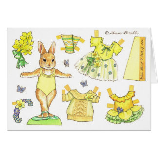Easter Paper Doll Card
