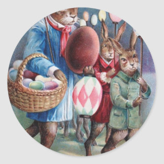 Easter Parade Classic Round Sticker