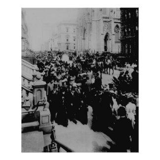 Easter Parade FiFth Avenue NYC 1906 Poster