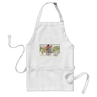 Easter Parade of Rabbits and Ducks Adult Apron
