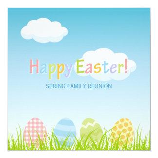 "Easter Party Family Reunion invitation 5.25"" Square Invitation Card"