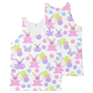 Easter Party Pattern All-Over Print Tank Top