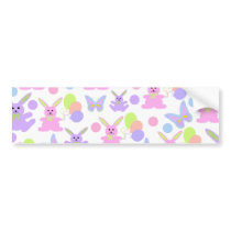 Easter Party Pattern Bumper Sticker