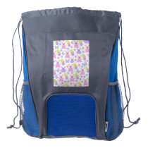 Easter Party Pattern Drawstring Backpack