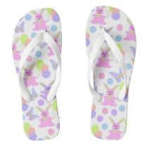 Easter Party Pattern Flip Flops