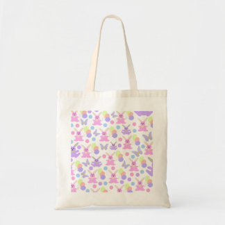 Easter Party Pattern Tote Bag