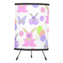 Easter Party Pattern Tripod Lamp