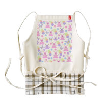 Easter Party Pattern Zazzle HEART Apron