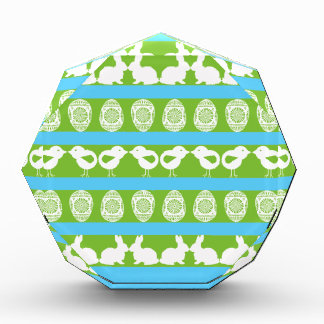 Easter pattern. Any background color Acrylic Award
