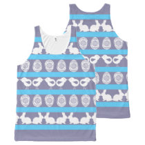 Easter pattern. Any background color All-Over-Print Tank Top