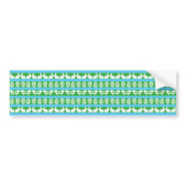 Easter pattern. Any background color Bumper Sticker