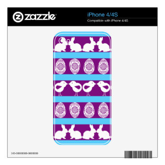 Easter pattern. Any background color Decal For iPhone 4